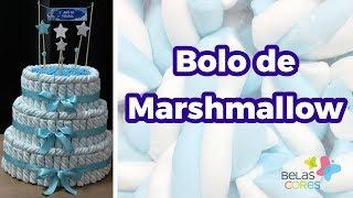 O fantástico Bolo Fake Verdadeiro de Marshmallow - Belas Cores