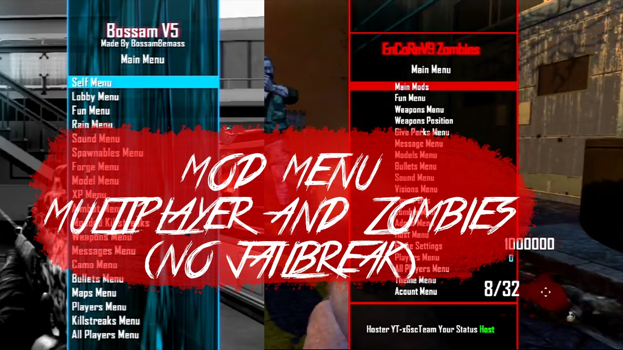 Black Ops 2 Mod Menu (MULTIPLAYER/ZOMBIES) [NO JAILBREAK] (PS3/OFW) - (READ  DESCRIPTION)
