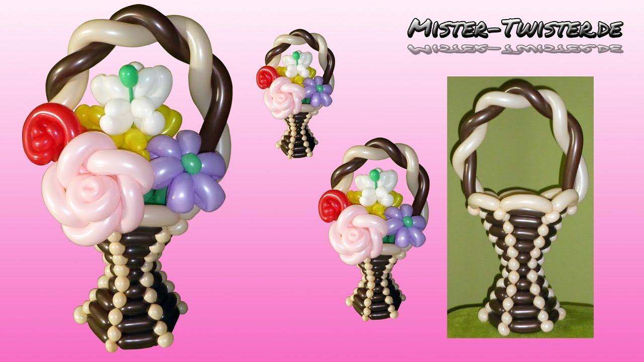 balloon flower basket vase decoration ballon blume. Black Bedroom Furniture Sets. Home Design Ideas