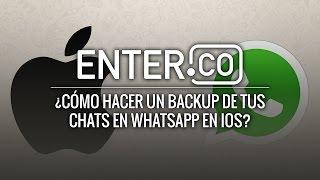 Aprende a crear una copia de seguridad de WhatsApp en iOS con iCloud