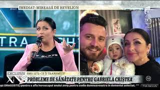 """Probleme de sănătate pentru Gabriela Cristea: """"În ajun de Crăciun am ajuns la spital"""