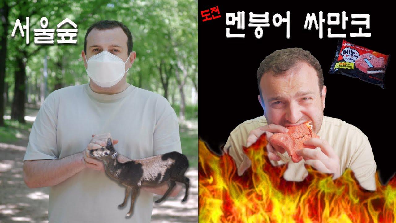 매운 도전 2!!!! '멘붕어싸만코' 불닭 맛 아이스크림 | Spicy Food Challenge 2!!!! (ft Seoul Forest Park)
