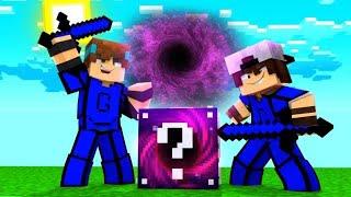 Minecraft: CORRIDA PVP - LUCKY BLOCK BURACO NEGRO !!