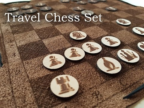How to fold the travel chess set into a bag.