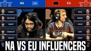 NA vs EU All-Star 2018 - League Of Legends NA vs EU Influencers All-Star 2018