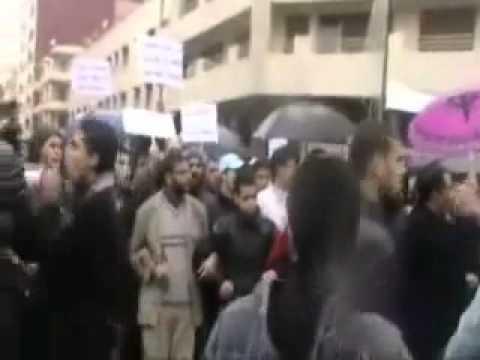 Marruecos, represion en Oujda