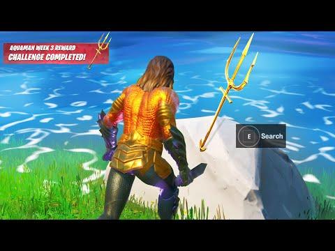 FORTNITE WEEK 3 AQUAMAN CHALLENGES REWARDS! (Fortnite Battle Royale)