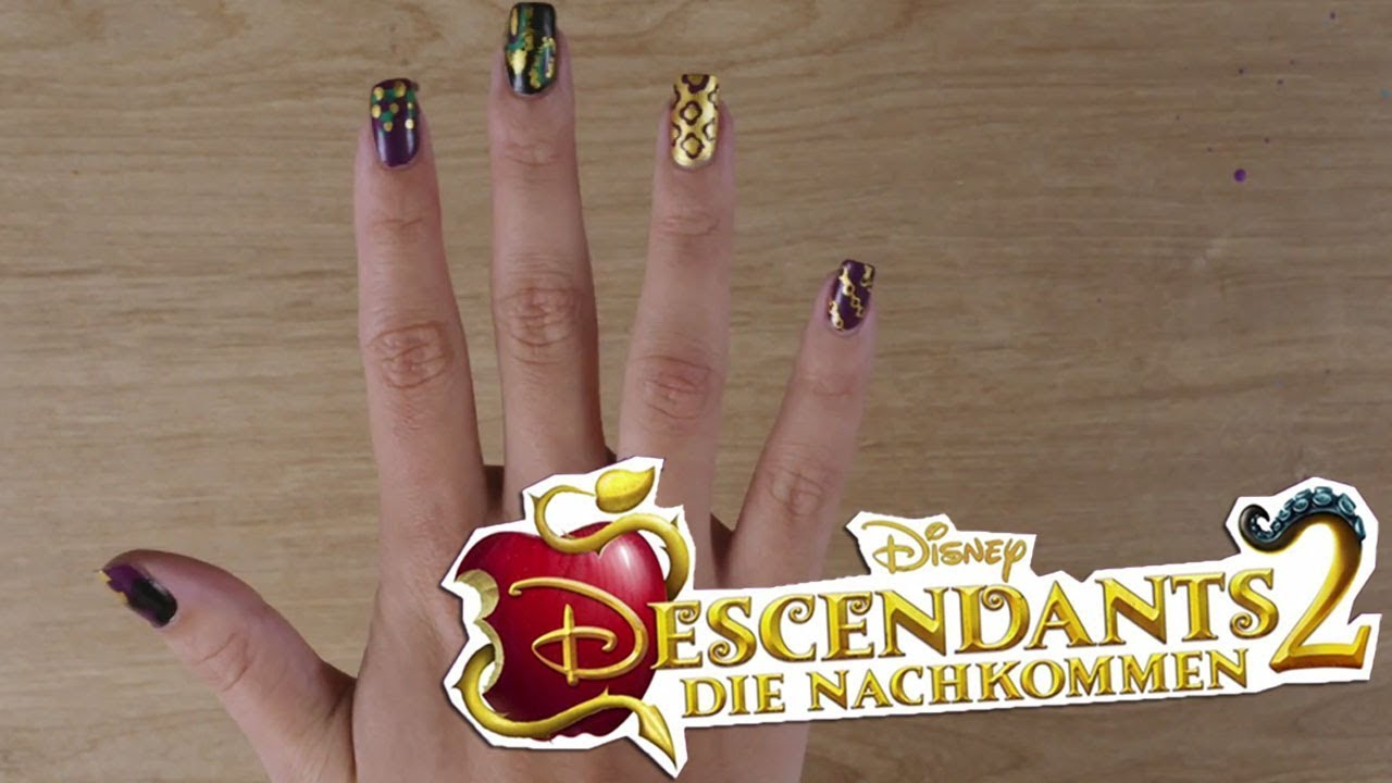 Disney\'s Nail Art - Inspiriert von: Descendants 2 - Mal | Disney ...