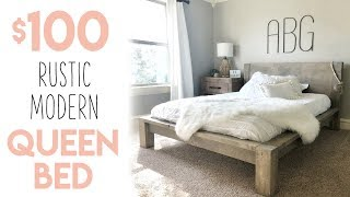 DIY $100 Rustic Modern Queen Bed