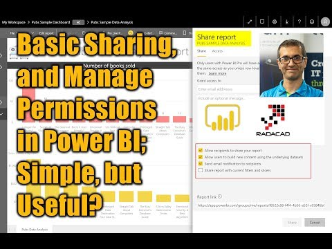 Basic Sharing, And Manage Permissions In Power BI Simple, But Useful