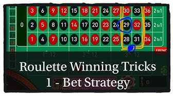 ( 1 - Bet Strategy ) Online Casino roulette tricks