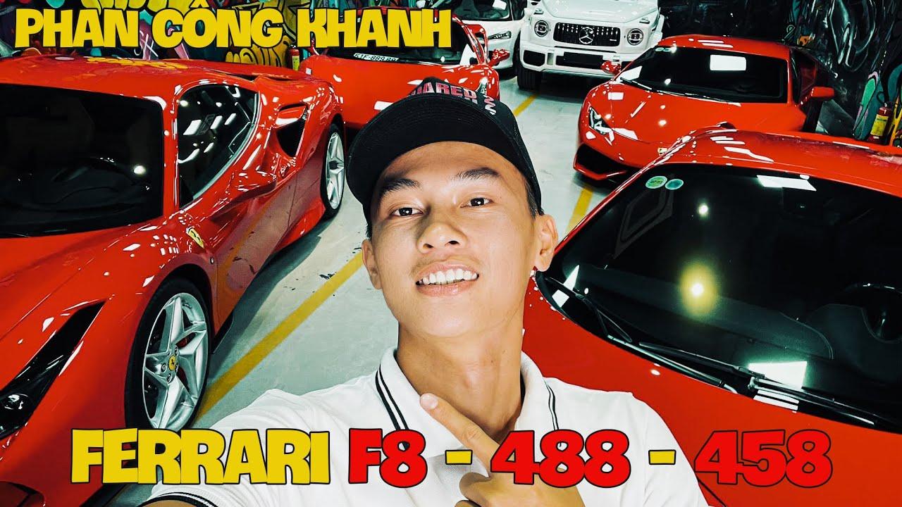 So Sánh Ferrari F8 Tributo - Ferrari 488 GTB - Ferrari 458 Spyder | Phan Công Khanh | K-Supper | 4K