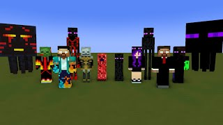 Monster School : enderman family - Minecraft Animation