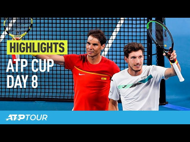 Spain Battles Into SFs | Day 8 Highlights | ATP CUP