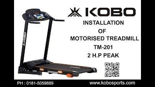 Kobo TM-201 Motorised Treadmill 2 H.P Assembly Video