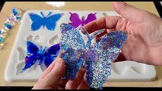 #1139 Amazing Resin Butterfly Suncatcher