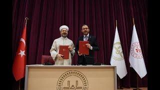 Gençlik ve Spor Bakanlığı ile Diyanet İşleri Başkanlığı arasında işbirliği protokolü imzalandı thumbnail