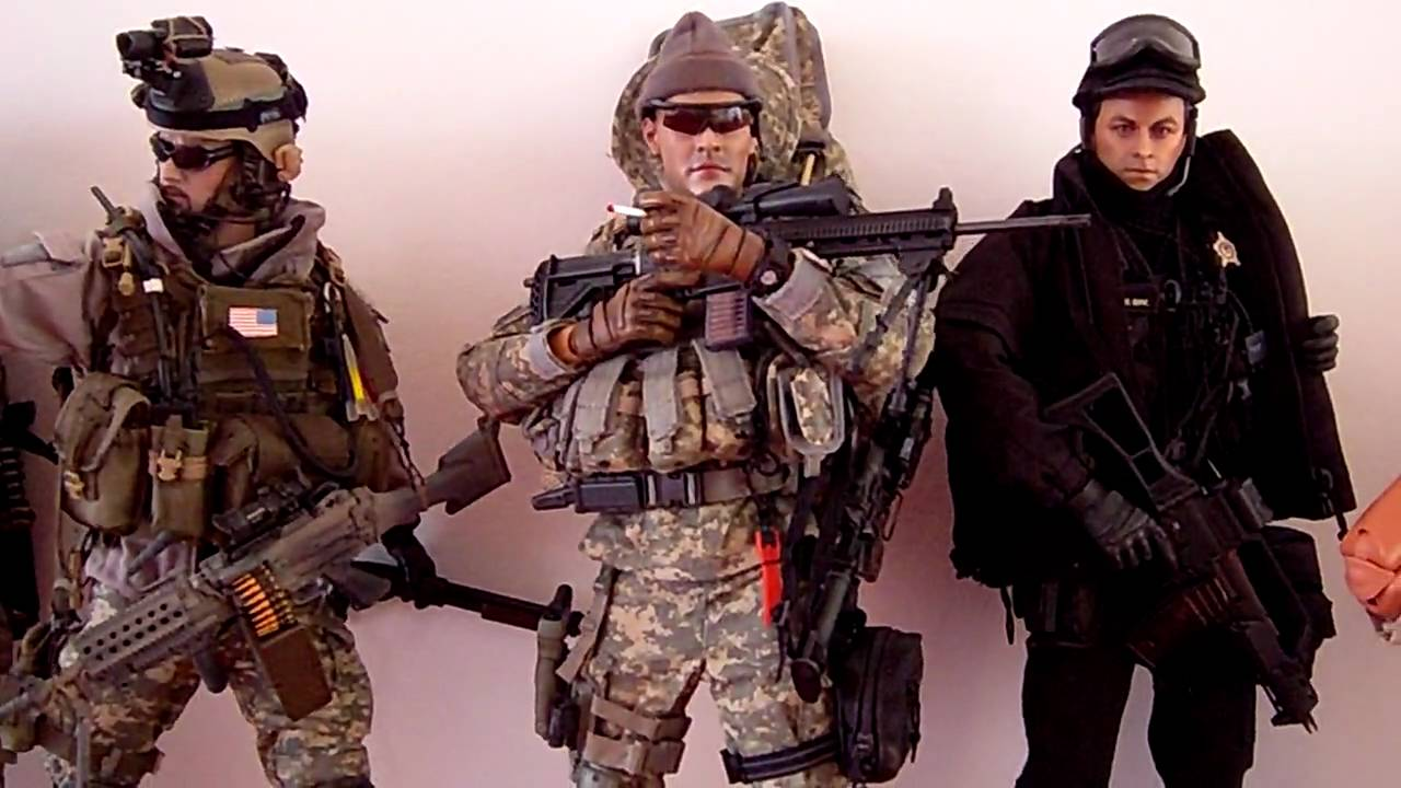 Hot military soldiers