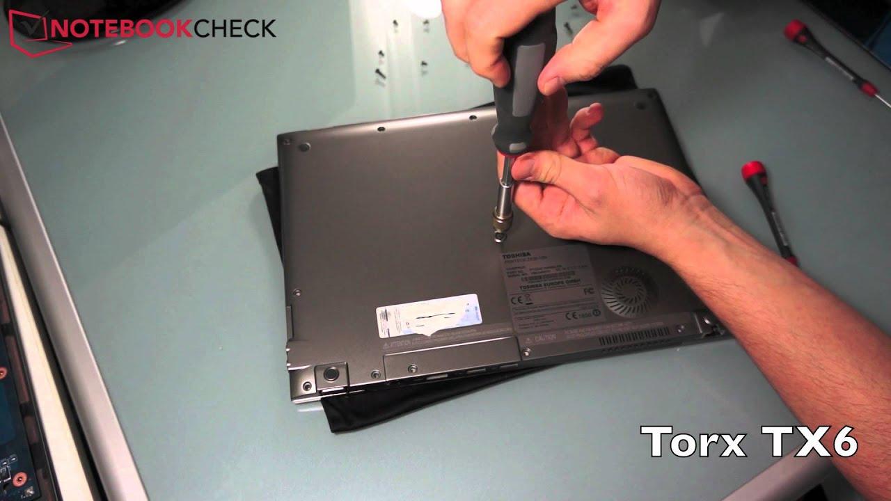 Toshiba portege z830 z835 teardown e g to upgrade the memory of