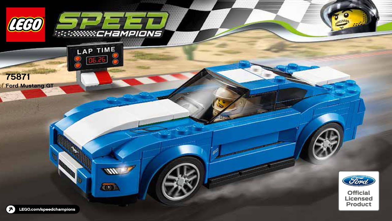 Lego 75871 ford mustang gt speed champions instruction booklet youtube