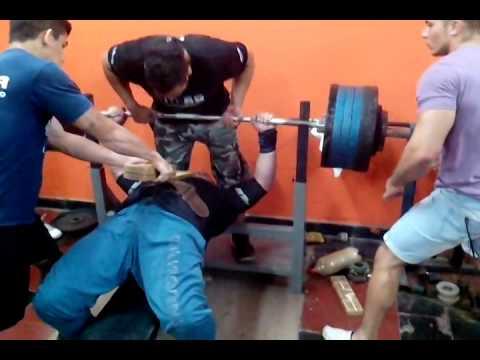 Eduardo Alcaraz 290 kg Fuerza en Banco Gimnasio Cruz del Sur