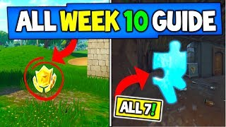 Fortnite WEEK 10 CHALLENGES GUIDE! - Jigsaw Puzzle Pieces Locations + WEEK 10 Battle Star Locations!