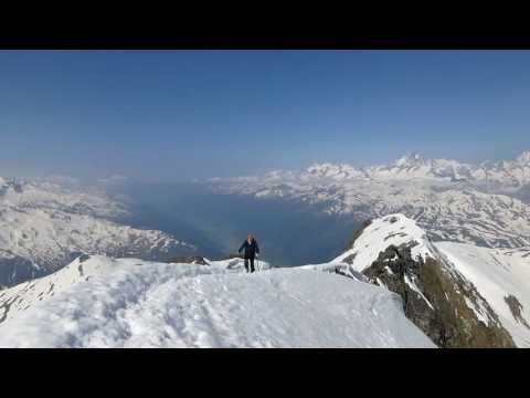 Gross MUTTENHORN 3099m Scialpinismo Skitouren  Furkapass  Vallese