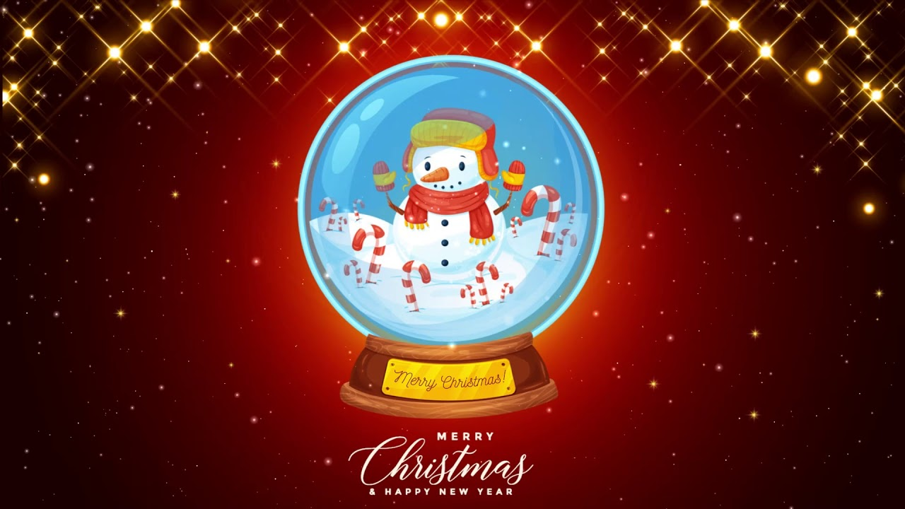snowman snow globe christmas screensaver