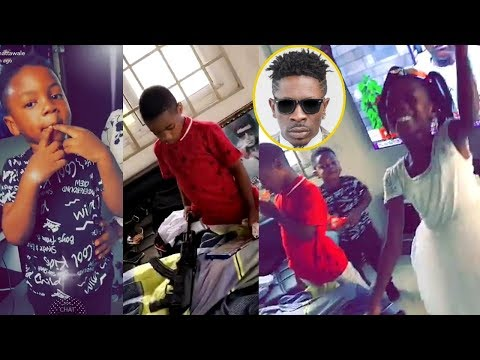 SHATTA WALE Brings His 3 Kids Together To Wish Him A Happy Fathers Day