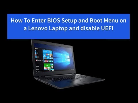 How To Enter BIOS Setup and Boot Menu on a Lenovo Ideapad Laptop and  Disable UEFI