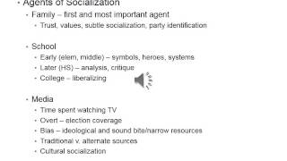 Political Socialization (2)