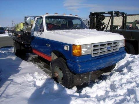 F250 Short Bed For Sale >> 1989 Ford F350 Flatbed Truck on GovLiquidation.com - YouTube