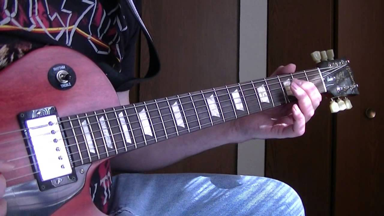 how to play black ice on guitar