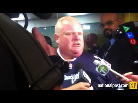 "Rob Ford: ""I've got more than enough to eat at home."""
