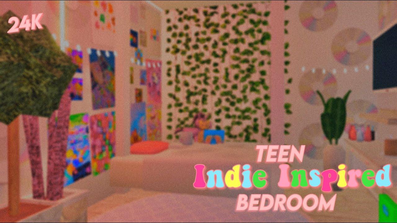 Indie Inspired Teen Bedroom Roblox Bloxburg 24k Youtube