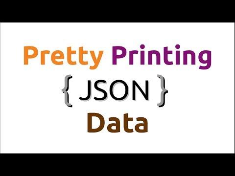 Pretty Printing JSON Data Using Python