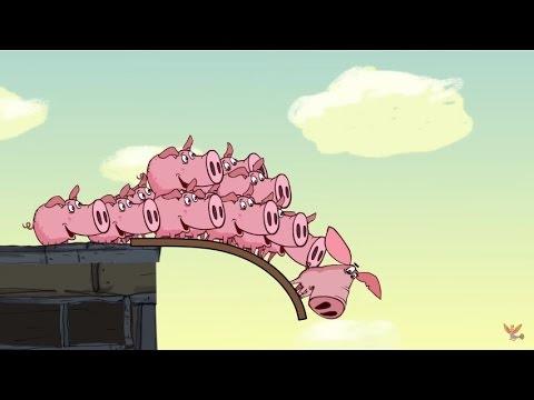 Поросёнок. Фильм 6-й - «Олимпиада» (Piglet. Part 6 - «Оlympiad») - Смешные видео приколы