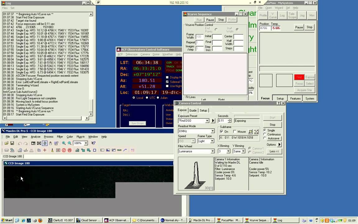 Osservatorio Lema - FocusMax Test - VCurve