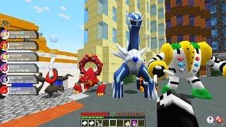 Minecraft - DIALGA, DARKRAI, VOLCANION E REGIGIGAS JUNTOS - Pokemon da Sorte