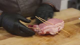 Italian Recipe: Stuffed Pork Chop with Prosciutto &amp Asiago Cheese