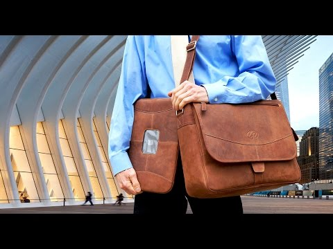Premium Leather MacBook Pro Sleeve / Shoulder Bag Bundle
