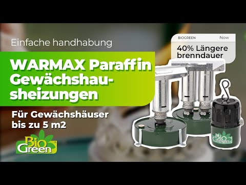 warmax paraffin gew chshausheizungen von bio green youtube. Black Bedroom Furniture Sets. Home Design Ideas