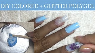 DIY COLORED + GLITTER POLYGEL [ EASY DUALFORM]