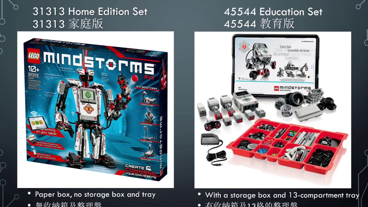 Lego Mindstorms Ev3 31313 Home 45544 Education Difference And Expansion 家用版和教育版的差異及擴充 Youtube