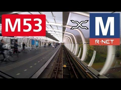 🚇 GVB R-net Amsterdam Metrolijn 53 Cabinerit Gaasperplas - Centraal Station Driver's view 2017