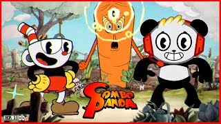 Scary Halloween CUPHEAD Trick or Treat Challenge Let's Play Steam Game with Combo Panda
