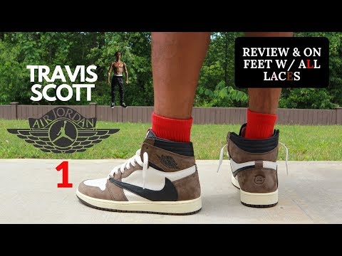 8be5e127fa30c3 Travis Scott Air Jordan 1 Review + Realest On Foot On YouTube - YouTube