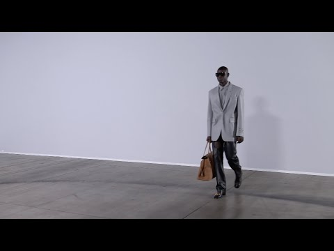 """ss21 Off-White™ runway show titled """"Adam is Eve"""" at """"Imaginary TV""""."""