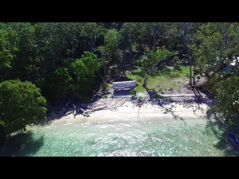 Drone View of Waterfront Lot for sale on Aore, Vanuatu