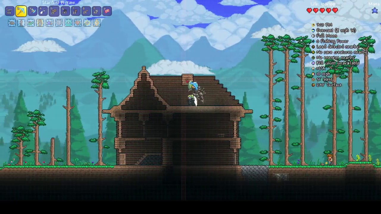 Terraria cute house design 2016 11 21 for Terraria house designs